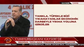 Cumhurbaşkanı Erdoğan: Dövizinizi Türk Lirasına çevirin. Türk parası bereketlidir.