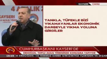 Cumhurbaşkanı Erdoğan: Bu oyunların karşısında biz de kendi oyunumuzu oynayacağız
