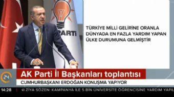 AK Parti İl Başkanları toplantısında konuşma yapan Cumhurbaşkanı Recep Tayyip Erdoğan önemli açıklam