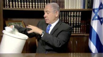 Hamas'ın yeni siyaset belgesini 97 saniyelik bir video görüntüsüyle çöpe gönderen İsrail Başbakanı,