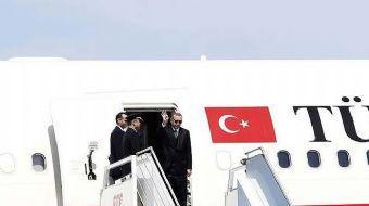 Cumhurbaşkanı Recep Tayyip Erdoğan, özel uçak 'TUR' ile TSİ 17.00'de Kazakistan'ın başkenti Astana'y