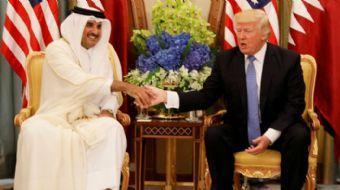 ABD Başkanı Donald Trump, Körfez'deki krizin çözümü için Katar Emiri'ni Beyaz Saray'a davet etmişti.