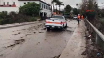 ABD'nin Kaliforniya eyaletinde aşırı yağışlar sonucu meydana gelen sel ve toprak kayması olaylarında