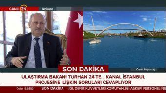 Bakan Turhan'dan Kanal İstanbul Açıklaması: İmamoğlu'nun Durdurma Yetkisi Yok