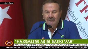 Merkez Hakem Kurulu Başkanı Yusuf Namoğlu, Video hakem uygulamasıyla ilgili açıklamalar yaptı.