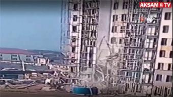 2 İnşaat İşçisi, İskele Çökünce 9'uncu Kattan Yere Çakıldı