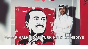 Katarlı ressam Cumhurbaşkanı Recep Tayyip Erdoğan'ı böyle resmetti