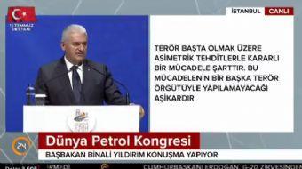 Başbakan Binali Yıldırım, Dünya Petrol Kongresi'nde konuşma yaptı. Başbakan Yıldırım konuşmasında, '