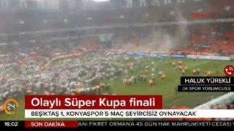 Olaylı Süper Kupa finali! Soruşturma başlatıldı