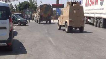 Kilis'in Öncüpınar Sınır Kapısı ve sınır hattında zırhlı ve askeri araç yoğunluğu yaşanıyor.