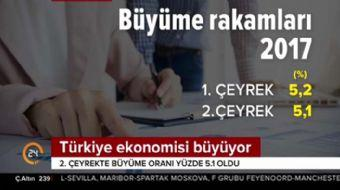 Türkiye ekonomisi büyüyor! 2. çeyrekte büyüme oranı yüzde 5.1 oldu