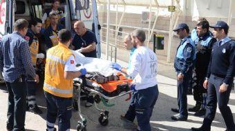 Ankara'nın Kahramankazan ilçesinde cinayet zanlısının hastaneye götürülmesi sırasında düzenlenen sil
