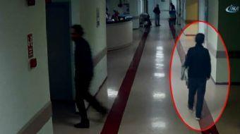 Hastanede hastaların çantasını çalan vicdansız hırsız kamerada