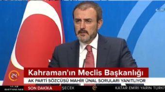 AK Parti Sözcüsü Mahir Ünal: Bu CHP Atatürk'ün kurduğu CHP olamaz
