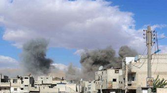 Suudi Arabistan önderliğindeki koalisyona ait savaş uçakları bugün Yemen başkenti San'a'nın farklı b
