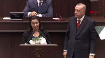 Başkan Erdoğan Kürsüyü Gülay Demir'e Bıraktı! AK Parti Grubu Ayakta Alkışladı