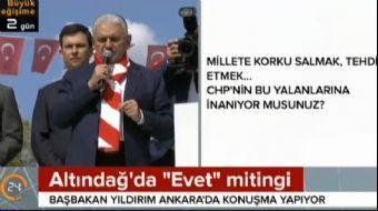 Ankara'da halka seslenen Başbakan Binali Yıldırım birlik beraberliğe dair önemli açıklamalarda bulun