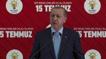 Cumhurbaşkanı Recep Tayyip Erdoğan, 15 Temmuz ve İnsan Hakları Paneli'nde konuşma yaptı. Erdoğan kon
