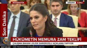 Çalışma Bakanı Jülide Sarıeroğlu, hükümetin memura zam tekliflerini açıkladı. Hükümetin memura zam t