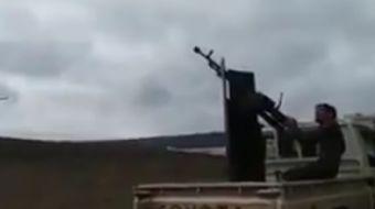 2. Kolorduya bagli Savaşçılar Tugayı, Afrin kuzeyi Bülbül yakınlarında YPG´nin kullandığı bir drone