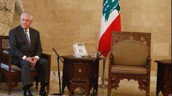 ABD Dışişleri Bakanı Rex Tillerson, temaslarda bulunmak için geldiği Lübnan´daki başkanlık sarayında