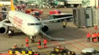 Pegasus uçağında yangın paniği