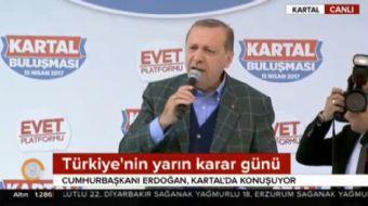 İstanbul Kartal'da halka seslenen Cumhurbaşkanı Recep Tayyip Erdoğan muhalefete yüklendi ve çarpıcı