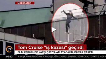 Görevimiz Tehlike 6'nın çekimleri için Londra'da bulunan Tom Cruise bir aksiyon sahnesi çekimi sıras
