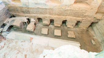 Topkapı Sarayı'ndaki Seferli Koğuşu'nun restorasyonu sırasında Fatih Sultan Mehmet'in banyo olarak k