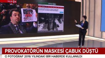 Zeytin Dalı Operasyonu´nu gölgelemeye çalışan terör yandaşı gazetecinin maskesi düştü