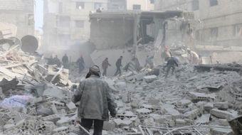 Suriye´de Beşşar Esed rejimince, Doğu Guta bölgesine bugün düzenlenen saldırılarda 2´si çocuk 6 sivi