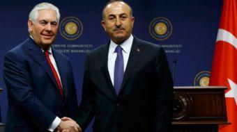 Dışişleri Bakanı Mevlüt Çavuşoğlu, ABD Dışişleri Bakanı Tillerson ile düzenlenen basın toplantısında