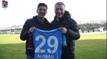 Trabzonspor'un Takım Otobüsünü Bekleyen Numan'ın Hayali Gerçek Oldu