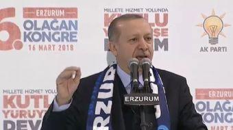 Erzurum´da AK Parti İl Kongresinde konuşma yapan Cumhurbaşkanı Recep Tayyip Erdoğan önemli açıklamal