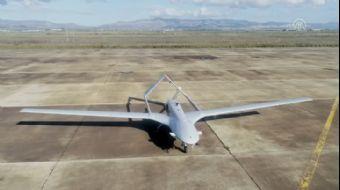 KKTC Geçitkale Havalimanı'na İnen İHA Havadan Görüntülendi