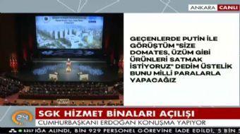 Cumhurbaşkanı Erdoğan Külliye'de toplu açılış töreninde konuştu. Erdoğan, 'Türkiye'nin sahaya inmesi