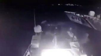 Türk Sahil Güvenlik botu ve Yunan Sahil Güvenlik botu arasında Kardak kayalıklarında 12 Şubat gecesi