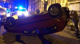 Alkollü Sürücü Takla Atan Otomobilden Yara Almadan Kurtuldu