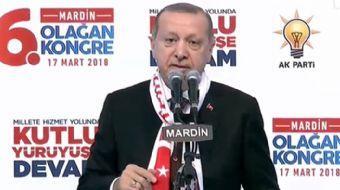Mardin´de AK Parti İl Kongresinde konuşma yapan Cumhurbaşkanı Recep Tayyip Erdoğan önemli açıklamala