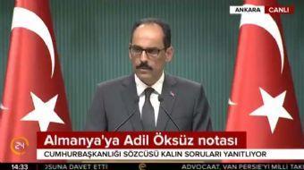 Cumhurbaşkanlığı Sözcüsü İbrahim Kalın gündeme ilişkin açıklamalarda bulundu. Kalın yaptığı açıklama