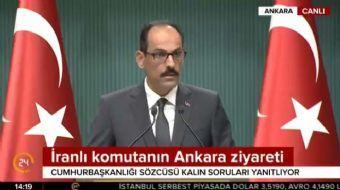 Cumhurbaşkanlığı Sözcüsü İbrahim Kalın, Donanma Komutanı Oramiral Veysel Kösele'nin kendi isteğiyle
