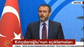 AK Parti Sözcüsü Ünal Kılıçdaroğlu'na: Bizim seni konuşmak gibi bi derdimiz yok!