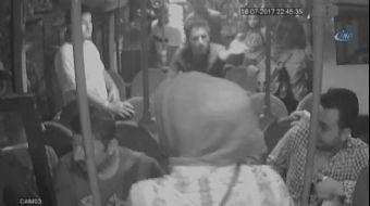 Zonguldak'ta halk otobüsünde kız arkadaşına tacizde bulunması nedeniyle çıkan kavga güvenlik kameras