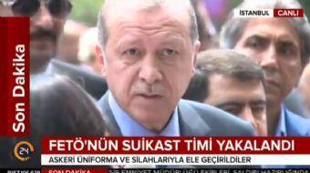 Cuma namazı çıkışı açıklamalarda bulunan Cumhurbaşkanı Recep Tayyip Erdoğan Almanya'daki gurbetçiler