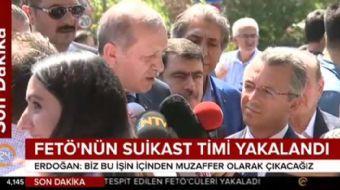 Cumhurbaşkanı Erdoğan'dan FETÖ'nün suikast timinin yakalanmasına ilişkin açıklama: Korkumuz söz konu