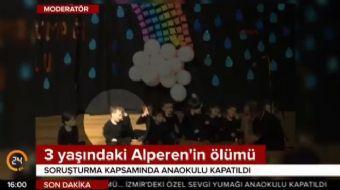 İzmir'de okul servisinde unutulduktan sonra hastanede yaşamını yitiren 3 yaşındaki Alperen Sakin'in