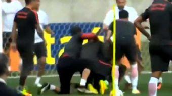 Bir d�nem Manchester United formas� da giyen Anderson, antrenmanda kavga etti�i tak�m arkada�� Willi