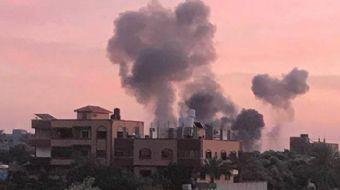 İsrail güçleri, Hamas'ın Filistin'de gerçekleştirdiği roket saldırılarına karşılık olarak, Hamas me