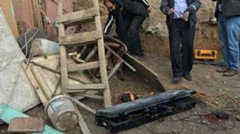 Mardin'in Kızıltepe ilçesinde bir şahsa ait evin avlusundan Garnizon Komutanlığına kazılmış tünel bu