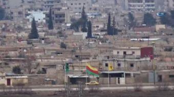 Mardin'in Nusaybin ilçesi karşısında bulunan Suriye'nin Kamışlı kentinde terör örgütü YPG'lilerin, o